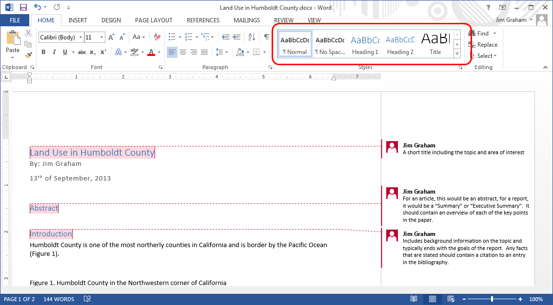 ms word reports